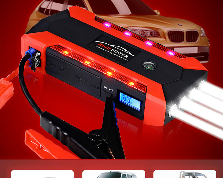 6L Petrol 4L Diesel - 74000mWh Car Jump Starter 800A Peak Car Battery Power Pack 12V Auto Charger Starting Device with Bag