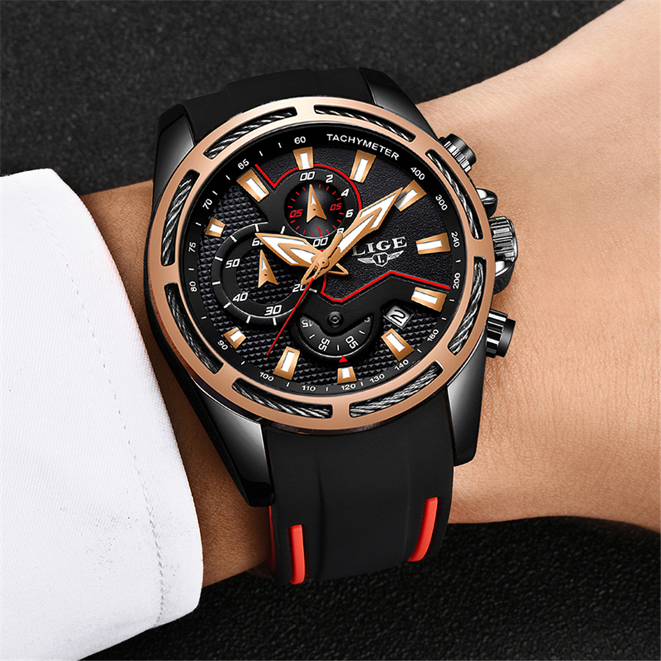 Lige moda dos homens relógios de luxo