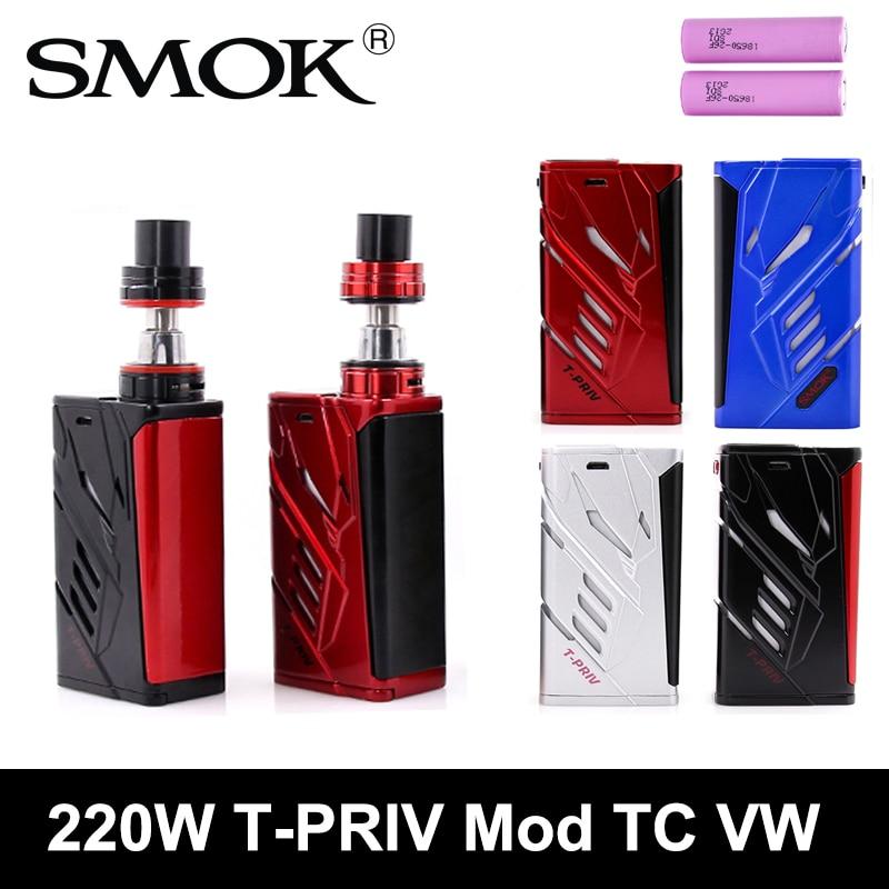 Original SMOK T PRIV 220W 5ml Micro TFV4 Tank Atomizer TC VW Vape Mod Gift Battery