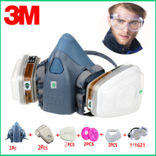 10in1 3M 7502 6001 Gas Mask Respirator Protective Anti Dust Mask Industrial Refine Mine Spray Silica Gel Mask Chemical Goggles