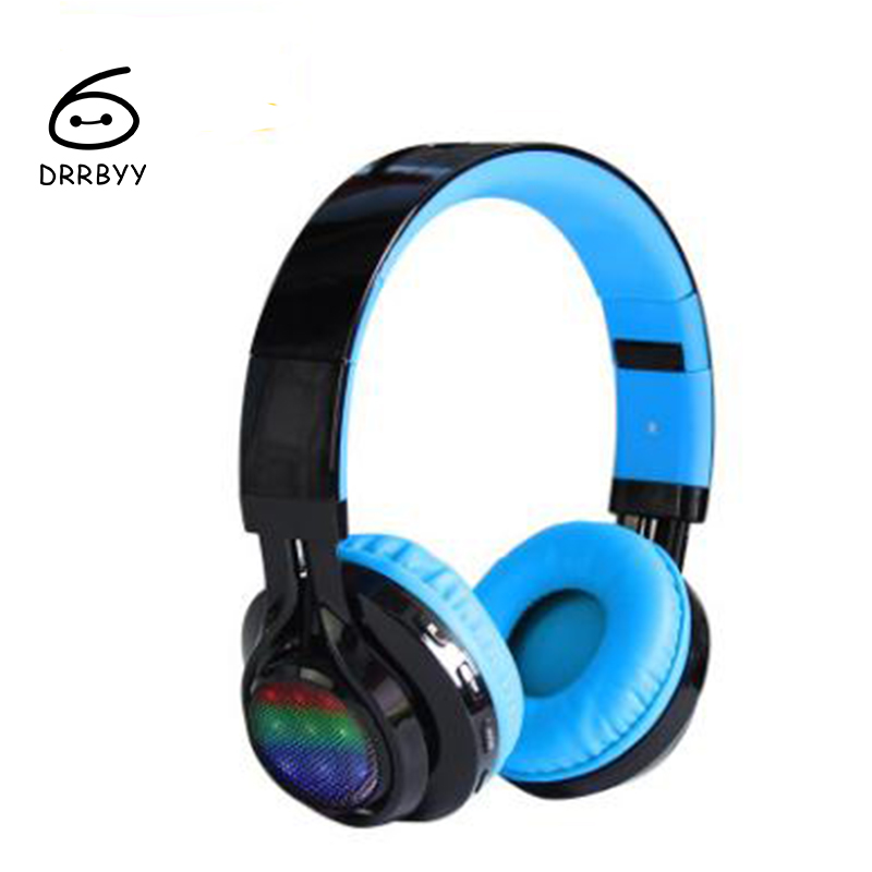 Foldable Super Bass Stereo Fone De Ouvido Sem Fio Luminous Cordless Wireless Bluetooth Headphones With Mic Lights Sports Headset bluetooth earphone headphone for iphone samsung xiaomi fone de ouvido qkz qg8 bluetooth headset sport wireless hifi music stereo