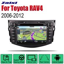 купить ZaiXi Android Car Radio Stereo GPS Navigation For Toyota RAV4 2006~2012 Bluetooth wifi 2din Car Radio Stereo Multimedia Player онлайн