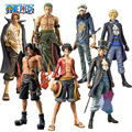 One Piece Pop Action Figure Toys 25cm After 2 Years Luffy & Zoro& Sabo & Law& Shanks& Ace 1/8 Scale Painted PVC Collection Doll