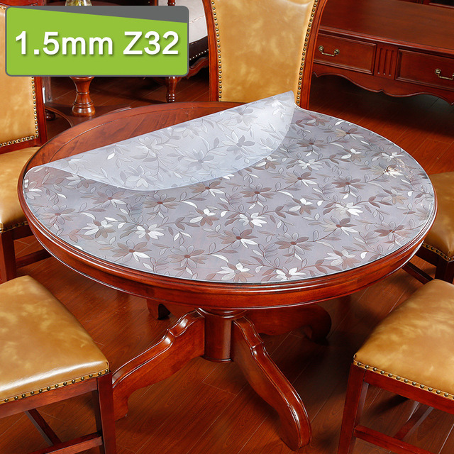 Transparent Pvc Tablecloth Soft Glass Round Tablecloth Waterproof For  Kitchen Plastic Table Cloth Round Table Cover