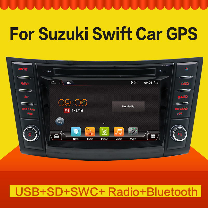 "7"" 2 Din Android 7.1 4 Core 1024*600 Car Radio For  Suzuki Swift 2011 2012 2013 2014 2015  Car Audio Stereo Multimedia Player"