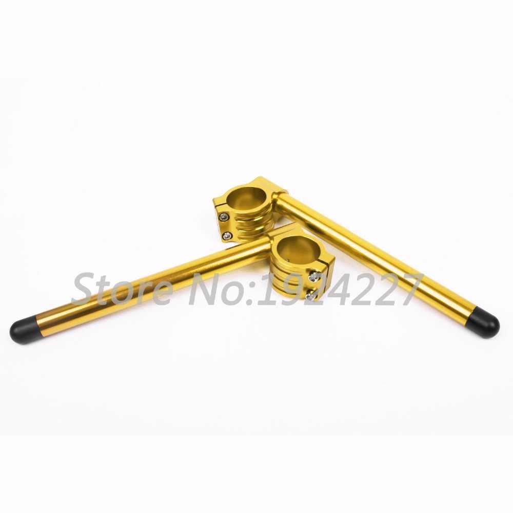CNC 50mm regular clip-ons handlebars Lift handle bar Fork Tube One Pair Black/Gold/Silver Motorcycle Handbar Clip Ons Clipon