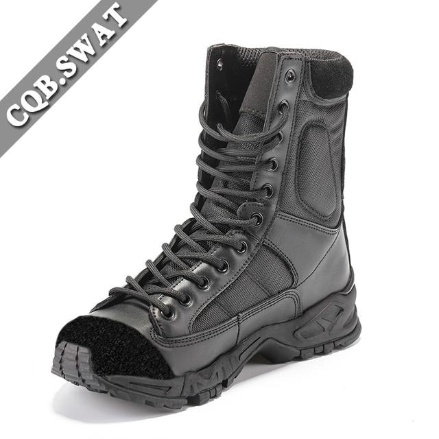US $53.51 51% OFF CQB. SWAT 2018 Tactische Laarzen Militaire Legerkistjes Leger zwart heren laarzen Ademend Wearable met hoge kwaliteit AirBorne Boot