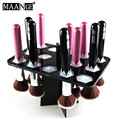 New 14 Big Makeup Brush Storage Black Folding Collapsible Air Drying Rack Holder