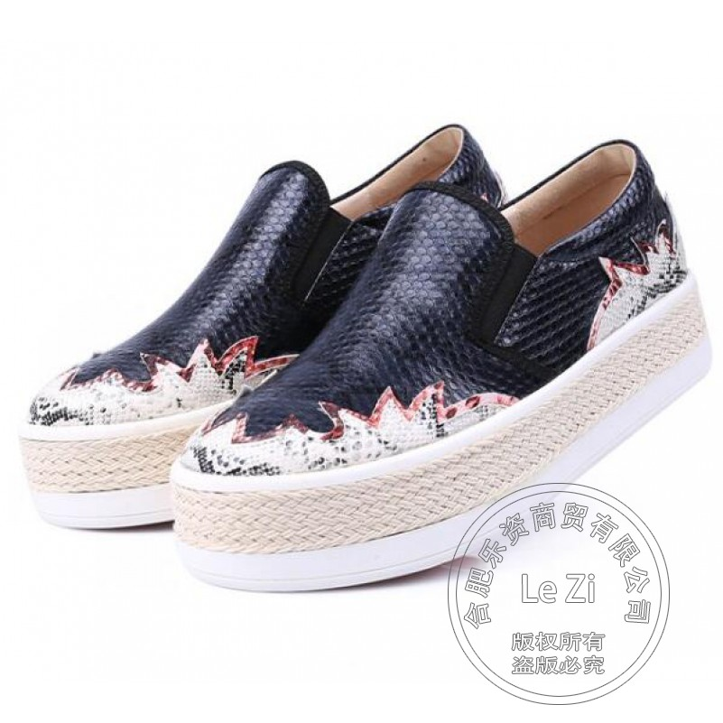 Plain Snake Print Microfiber Hip Hop font b Woman b font Shoes Punk Soft Leather Customized