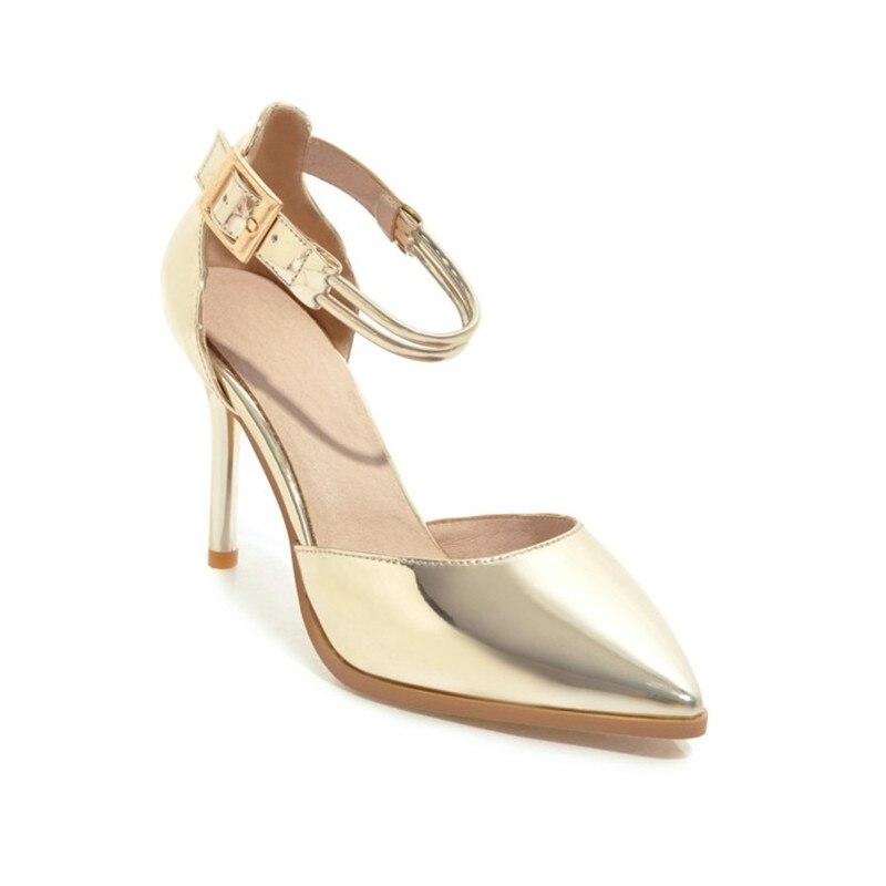 c58f8ca181a7a2 D'été champagne silver Femme Golden Femmes Sangle Cheville Sandales purple  up Super Talons Themost 8cm Minces Chaussures Haute TAaZqxadw