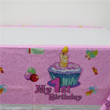 "Pink ""My 1st Birthday"" Table Cover"