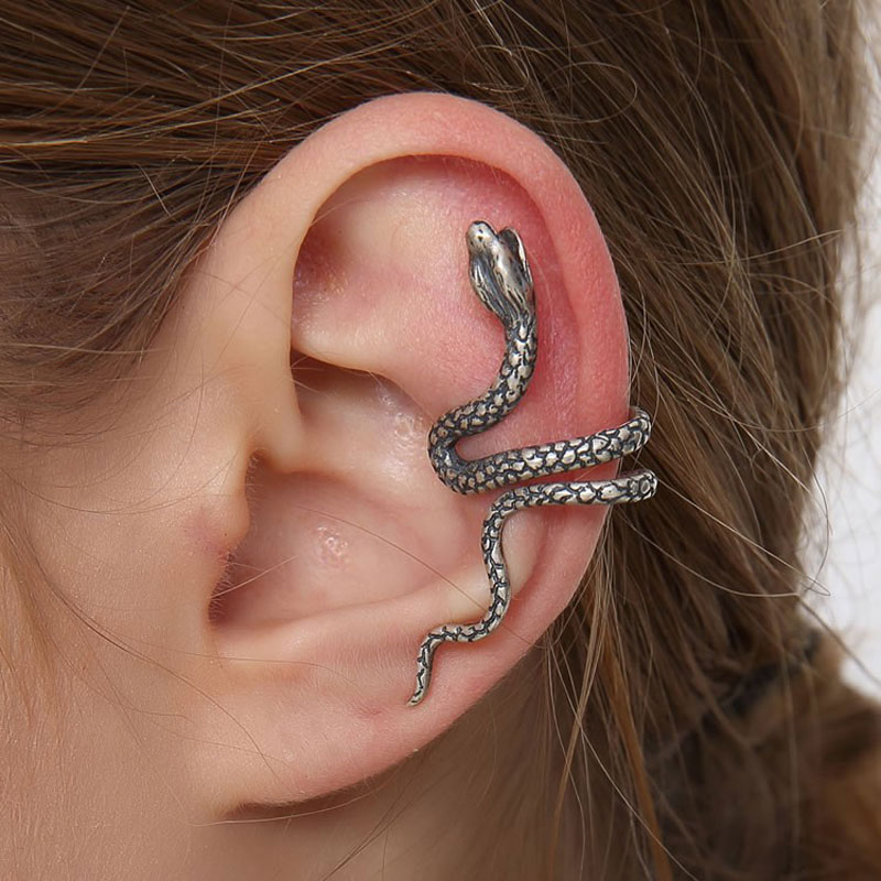 Sterling Silver Ear Cuffs - Express your unique style with ear cuff jewelry. We carry every style of ear wraps from the snake ear cuff to the feather, dragon, climbing man, and more! We have pierced & non pierced ear cuffs.