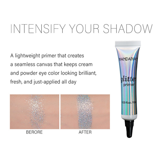 Sequin Glitter Primer Eyeshadow Pigment Cream Face Lip Eye Makeup Primer Cream SSwell 4