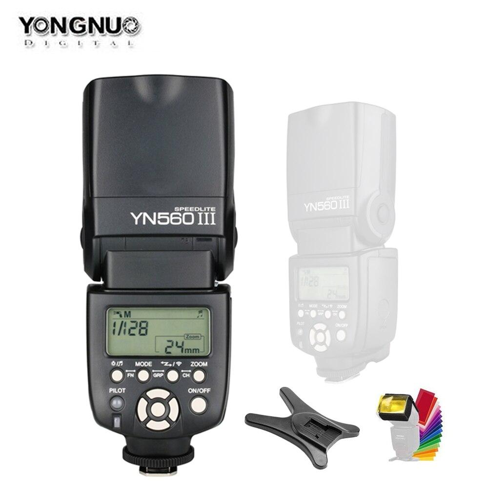 YONGNUO YN560III YN560 III YN560 III Flash sans fil Speedlite pour appareil photo Canon Nikon Olympus Panasonic Pentax-in Clignote from Electronique    1