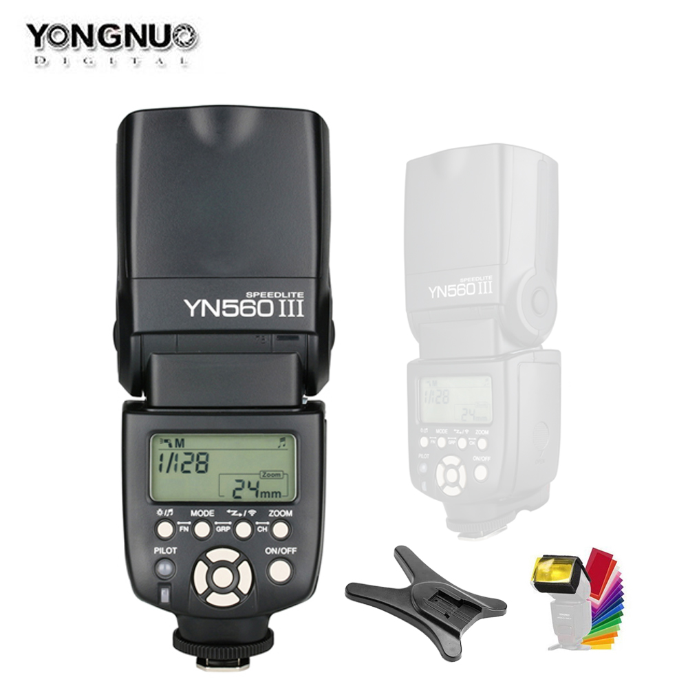 YONGNUO YN560III YN560-III YN560 III Wireless Flash Speedlite Speedlight For Canon Nikon Olympus Panasonic Pentax Camera 2 pcs yongnuo yn560 iii yn560iii flash speedlite flashlight for canon nikon