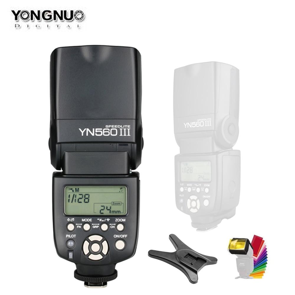 YONGNUO YN560III YN560-III YN560 III inalámbrico Flash Speedlite Flash para Canon Nikon Olympus Panasonic Cámara Pentax