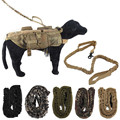 New 5.111 Army Nylon Tactical Training K9 Dog Lead Training Leash Military Elastic Canine Strap Rope Traction Harness Collar