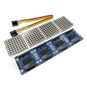 Image 2 - 10 adet MAX7219 Dot Matrix Modülü Mikrodenetleyici 4 5 P Hattı ile Bir Ekran 4 In 1