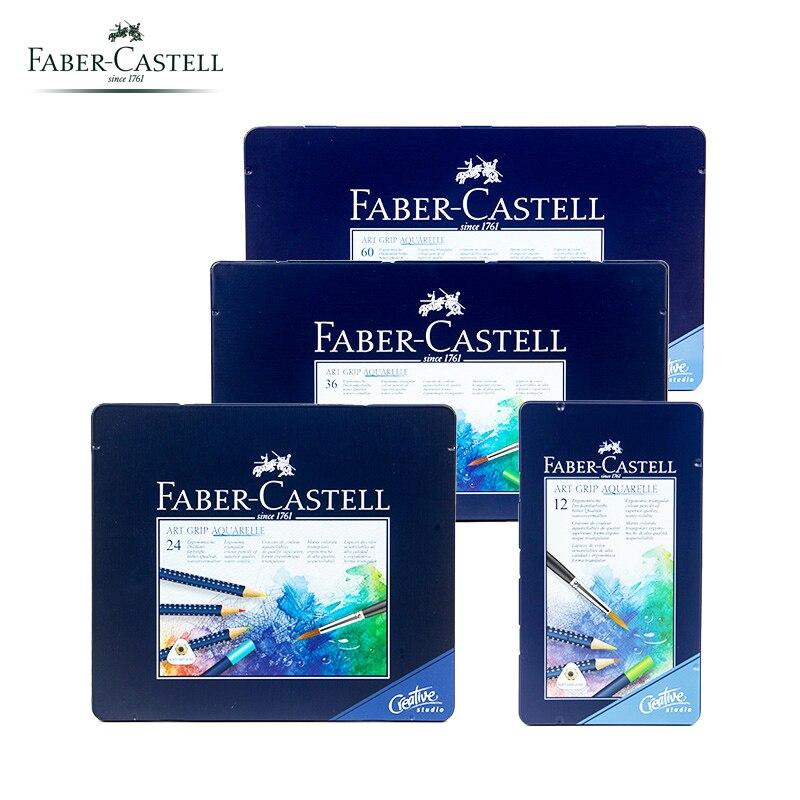 Original Faber Castell nouveau 1142 Art GRIP Aquarelle Aquarelle crayons étain de 12/24/26/60 couleur Art qualité dessin professionnel
