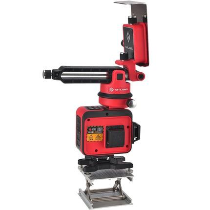 Niveau Laser 12 lignes 3D auto-nivelant 360 niveau Laser Horizontal et Vertical Super puissant faisceau vert niveleur laser SHIJING