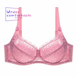 Summer Western Plus Size E Cup Ultra Thin Sexy Lace Push Up Women Bra Fancy Shaping Comfortable Female Intimates in Bras from Underwear Sleepwears