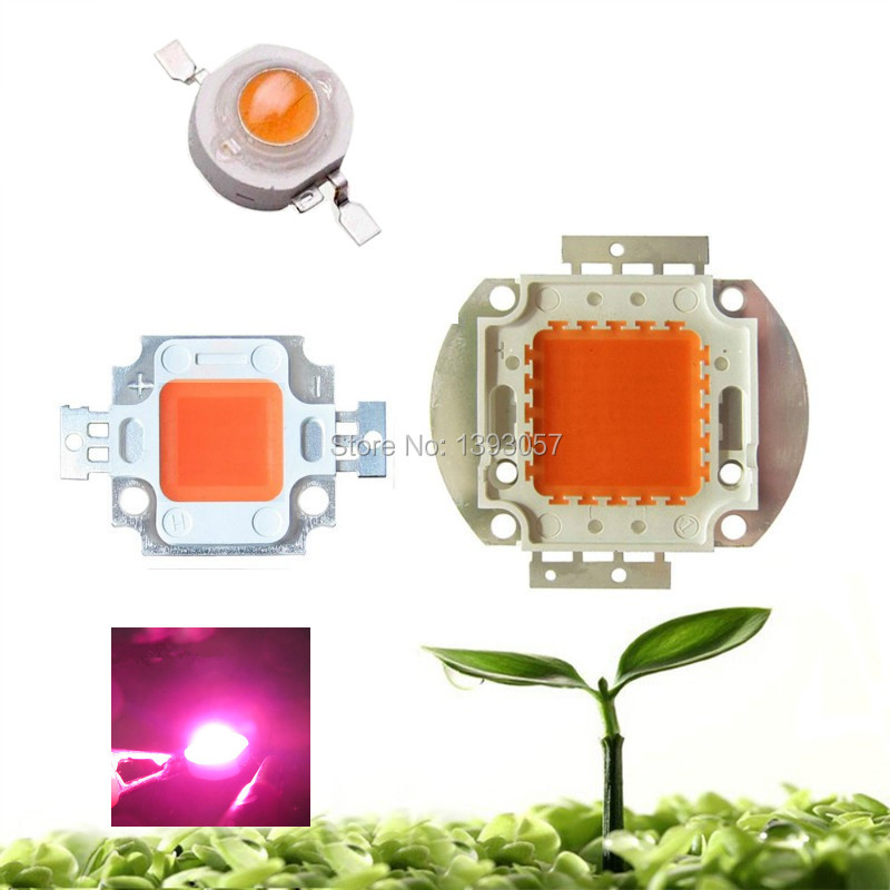 High power LED chip Grow light 400Nm-840Nm 1W 3W 10W 20W 30W 50W 100W Full Spectrum Plant Growing Garden bulb Vegetable diode