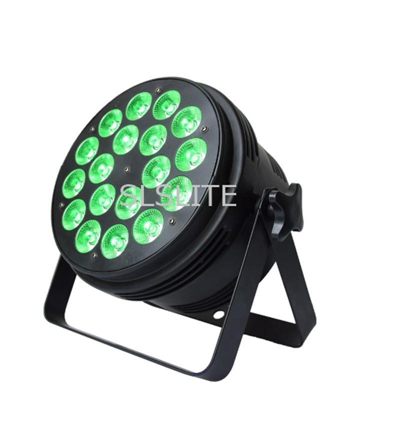 Здесь продается  8PCS/LOT  NEW PAR LED 18X15W RGBWA 5IN1 DMX512 control professional stage DJ equipment disco lights  Свет и освещение