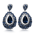 54mm Big Trendy Orecchini Earings Water Drop Earrings For Women Cubic Zirconia Allergy Free Lead Free