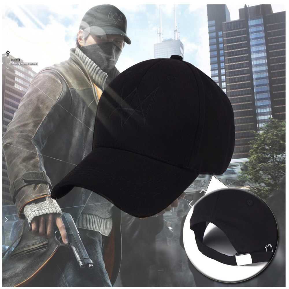 Masker Watch Dogs Cap Cosplay 2 Marcus Aiden Pearce Holloway Pertandingan Bisbol Topi Kostum Aksesoris Wajah Halloween