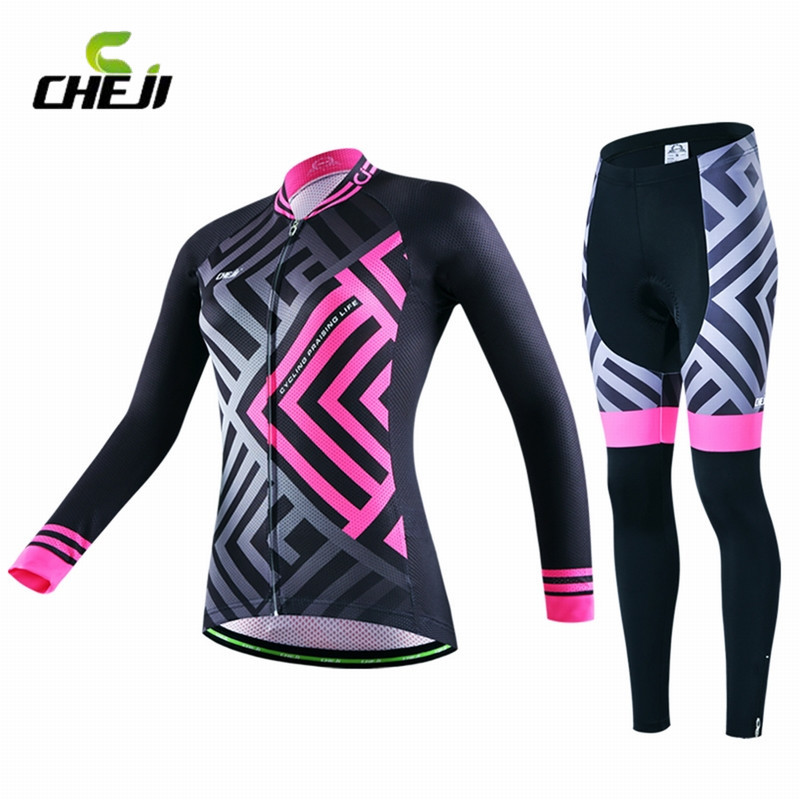 ФОТО Women Racing Cycling Set Girls' Jerseys Bike/Bicycle Breathable Clothing Cycling Wear/Long Sleeve Quick Dry Shirt Sport Pants