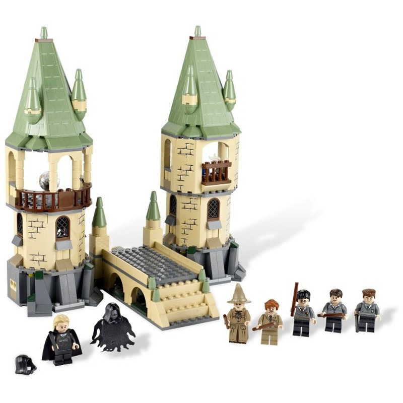 New Harry Potter Serices Hogwarts Castle Defense War Blocks Bricks Compatible With legoINGLY 4867 Model Building Toys Children