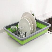 Skládací DIY Silikonová mísa na nádobí Kuchyňská skříňka Zásobník na odpadky Deska na kelímky Podstavec na displej Držák na sušení Stojan na dřevo Domácí organizér Skládací