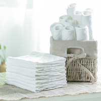 10pcs Lot 3 Layers Ecological Cotton Widening Thickening Baby Cloth Nappy Inserts Reusable Washable Diapers Nappy