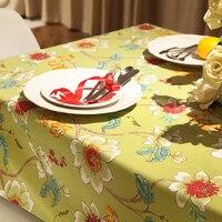 Хлопчатобумажная скатреть для обеденного стола в американском стиле, принт из крупных цветов