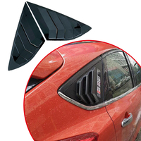 2013 2014 2015 2016 2017 2018 2019 For Ford focus ST RS model atchback Carbon fiber color and black Window Side Louvers Vent