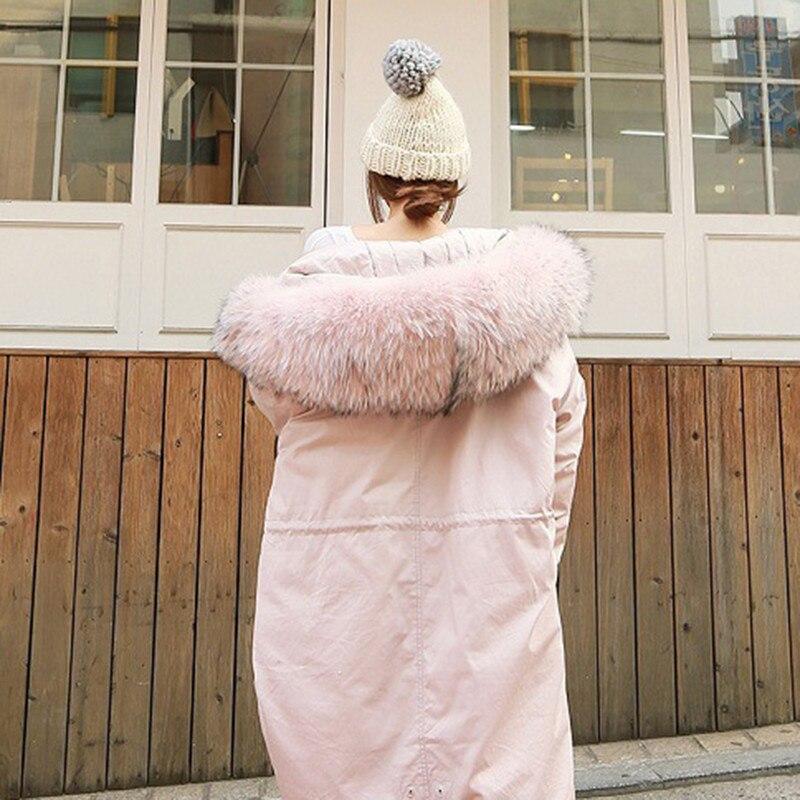 Col Fourrure Faux Parkas Manteau Hiver Solide Épaississent Survêtement Nouveau Long Casual Lâche Chaud Femme Veste Grand H348 Femmes Couleur De Capot PpWSqB