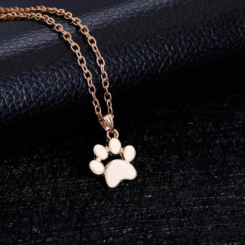 אופנה חיות מחמד חמוד של כלבי עקבות Paw שרשרת שרשרת סוודר שרשרת תליון שרשראות & תליוני תכשיטים לנשים