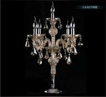 Fábrica libre del envío directa venta grande lámpara de candelabro de cristal lámpara de mesa Lámpara de escritorio titular de la vela grande dormitorio hotel lámpara de mesa