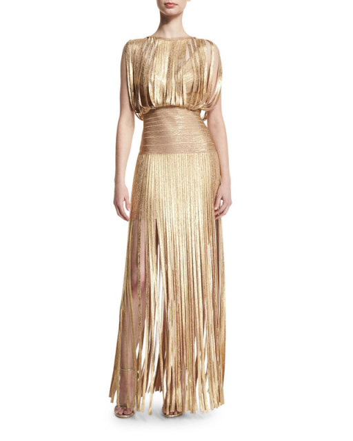 Langes kleid gold