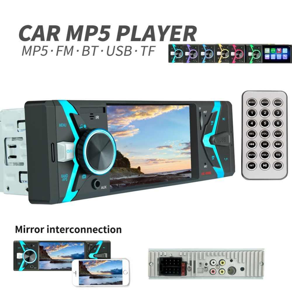 """Autoradio 1din วิทยุรถยนต์ 4.1 """"HD Autoradio มัลติมีเดีย 1DIN เสียงอัตโนมัติรถสเตอริโอ MP5 Bluetooth USB TF FM กล้อง MP3 วิทยุ"""