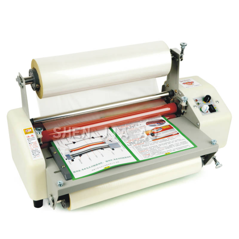 12th 8350T A3+Four Rollers Laminator Hot Roll Laminating Machine,High-end speed regulation laminating machine 220v
