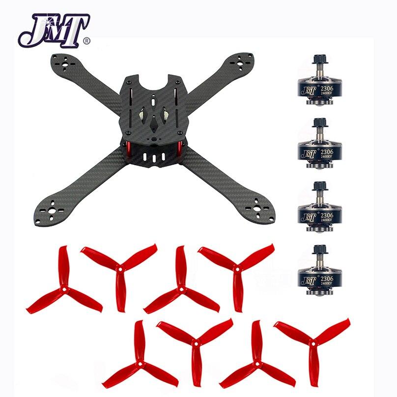 JMT 2306 2400KV moteur Brushless 3 ~ 4 S + 300mm Kit de cadre avec HULKIE 5055 S 3 hélice à aubes pour 210 250 280 300 FPV Drone de course
