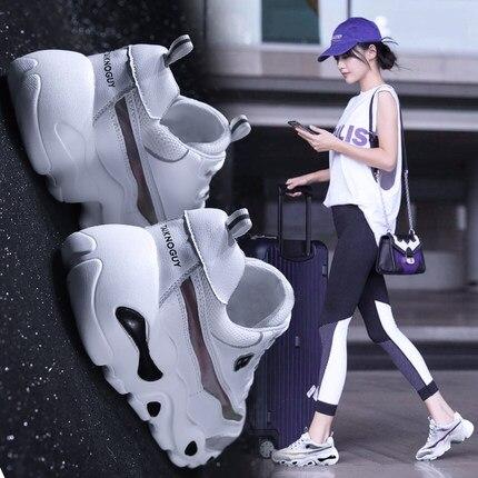 Ulzzang Nouveau 2018 Blanc 2 Coréenne Chaussures Femelle 1 Vieux Sauvage Sport Version Femmes Harajuku Petit De qXFfwUv