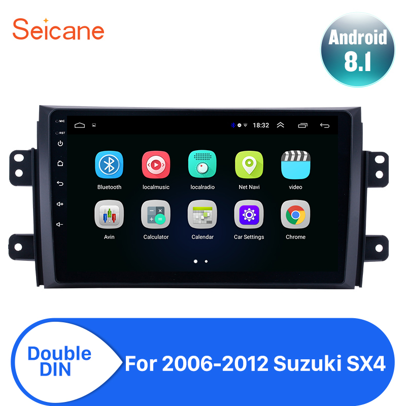 Seicane Android 8.1 2din Car Head Unit Player For 2006 2007 2008 2009 2010 2011 <font><b>2012</b></font> <font><b>Suzuki</b></font> <font><b>SX4</b></font> Radio GPS Navi Mirror link wifi image