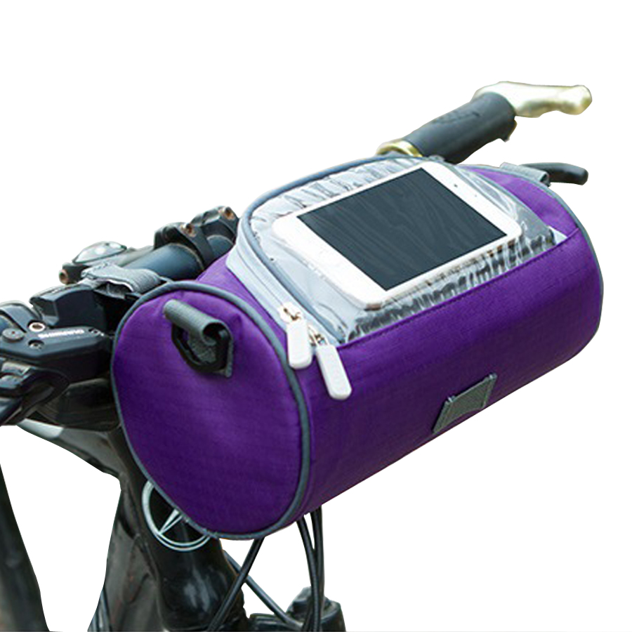 Grandes sacos de bicicleta guiador frente tubo à prova dwaterproof água saco do telefone da bicicleta pacote tela toque para estudante feminino meninas ciclismo acessórios