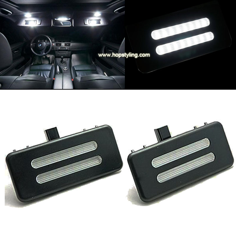 2X LED Vanity Mirror Light For BMW E60 E61 E90 E92 LED Ceiling lights reading light Car Accessories car styling auto lighting reading literacy for adolescents