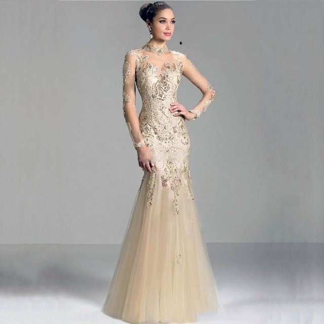 Mansa 2016 Modest Mermaid Mother Of The Bride Dresses With Sleeves Liques Long Lace