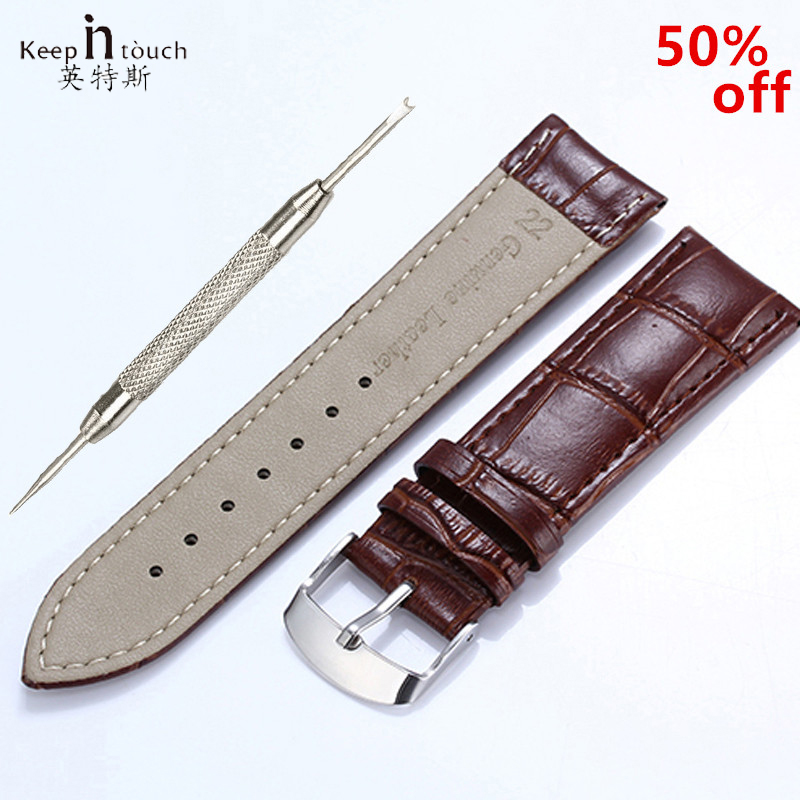 Hight Quality 20mm Watch Band Leather 22mm Men Women Brown Waterproof Watch Strap 16mm Genuine Steel Buckle Black 18mm Watchband high quality genuine leather watchband 22mm brown black wrist watch band strap wristwatches stitched belt folding clasp men