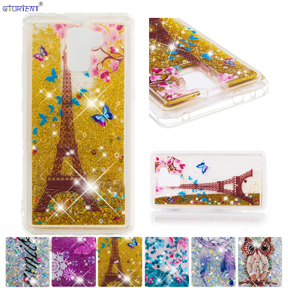 Glitter Cover For Huawei Honor 7 Fitted Phone Case Honor7 Plk-l01 Plk-al10 Bling Dynamic Liquid Quicksand Back Cases Plk L01 Half-wrapped Case