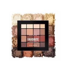 Hot Sell Beauty Glitter Eyeshadow Make Up Palette Metallic Shimmer Pigmented Cosmetics 16 Color Bold Creamy-rich Warm Bright Set